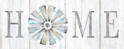 Windmill Home Sign Panel art print by Cynthia Coulter for $35.00 CAD