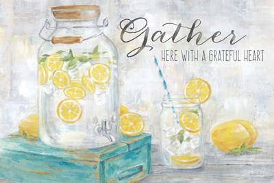 Gather Here Country Lemons Landscape art print by Cynthia Coulter for $42.50 CAD