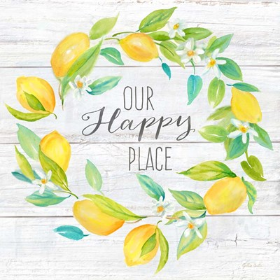 Our Happy Place Lemon Wreath art print by Cynthia Coulter for $53.75 CAD
