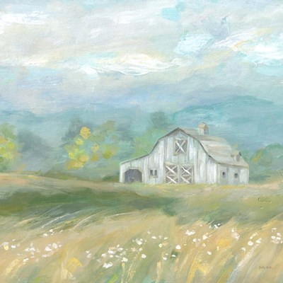 Country Meadow Farmhouse art print by Cynthia Coulter for $53.75 CAD