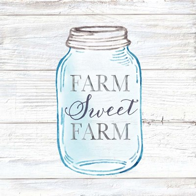 Farmhouse Stamp Mason Jar art print by Cynthia Coulter for $32.50 CAD
