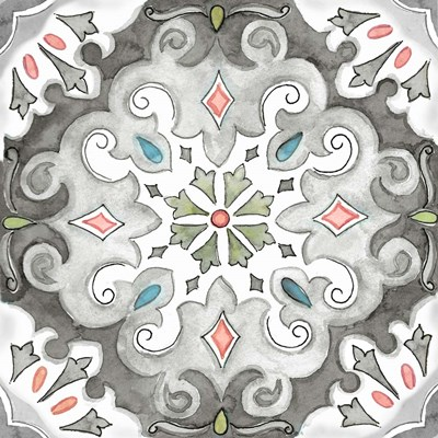 Jewel Medallion Gray I art print by Cynthia Coulter for $32.50 CAD