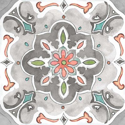 Jewel Medallion Gray III art print by Cynthia Coulter for $32.50 CAD