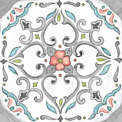 Jewel Medallion Gray IV art print by Cynthia Coulter for $32.50 CAD