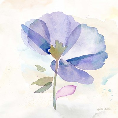 Poppy Single Purple art print by Cynthia Coulter for $32.50 CAD