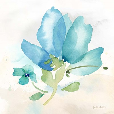 Poppy Single Blue art print by Cynthia Coulter for $32.50 CAD