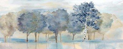 Treeline Reflection Panel art print by Cynthia Coulter for $35.00 CAD