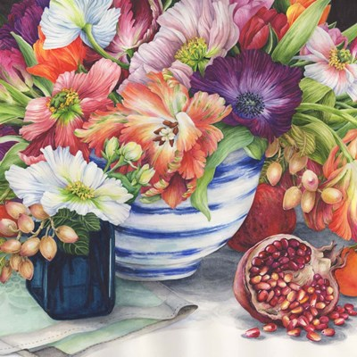 Vibrant Bouquet Still Life art print by Jane Wicks for $53.75 CAD