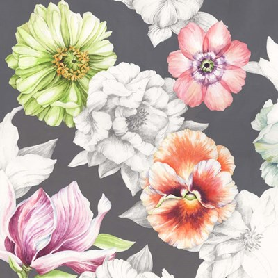 Floral Sketch on Grey art print by Jane Wicks for $53.75 CAD