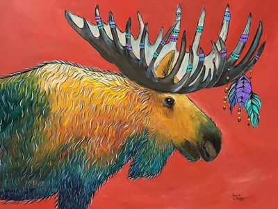 Moose art print by Karrie Evenson for $38.75 CAD