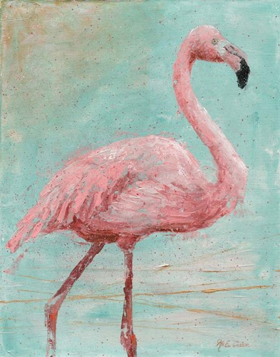 Pink Flamingo I art print by Marie-Elaine Cusson for $53.75 CAD