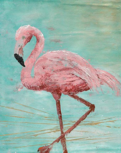 Pink Flamingo II art print by Marie-Elaine Cusson for $53.75 CAD
