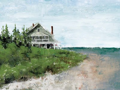 Beach Cottage Life art print by Marie-Elaine Cusson for $51.25 CAD