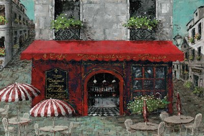 Cafe Monmartre art print by Marie-Elaine Cusson for $42.50 CAD