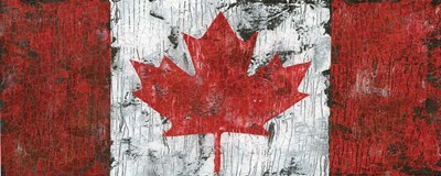 Canada Maple Leaf Landscape art print by Marie-Elaine Cusson for $35.00 CAD