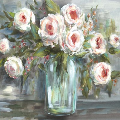 Pink Blooms Still Life Square art print by Tre Sorelle Studios for $53.75 CAD