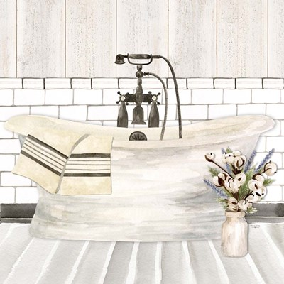 Farmhouse Bath I Tub art print by Tara Reed for $53.75 CAD