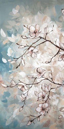 Magnolia Branches on Blue I art print by Tre Sorelle Studios for $50.00 CAD