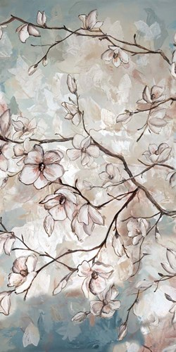 Magnolia Branches on Blue II art print by Tre Sorelle Studios for $50.00 CAD