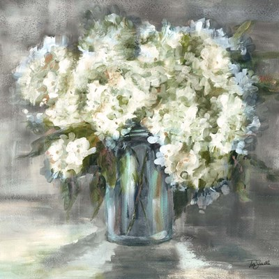 White and Taupe Hydrangeas Sill Life art print by Tre Sorelle Studios for $53.75 CAD