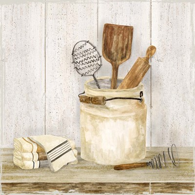 Vintage Kitchen I art print by Tara Reed for $32.50 CAD