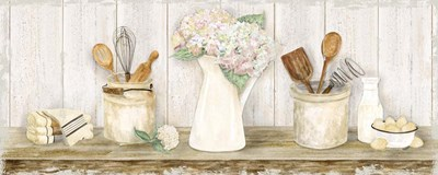 Vintage Kitchen Panel art print by Tara Reed for $35.00 CAD
