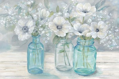 Vintage Jar Bouquet Landscape art print by Cynthia Coulter for $42.50 CAD
