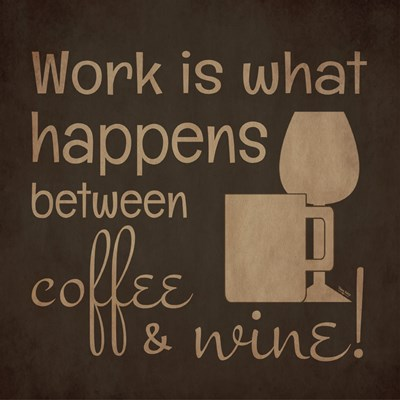 Wine and Coffee Sayings I art print by Tara Reed for $32.50 CAD