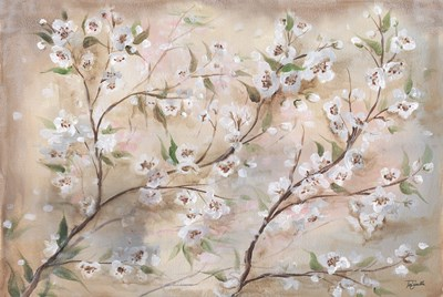 Cherry Blossoms Taupe Landscape art print by Tre Sorelle Studios for $97.50 CAD
