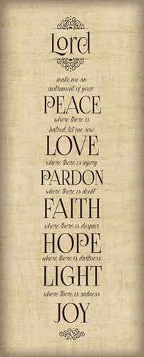 Bible Verse Panel IV (Instrument of Peace) art print by Hartworks for $35.00 CAD