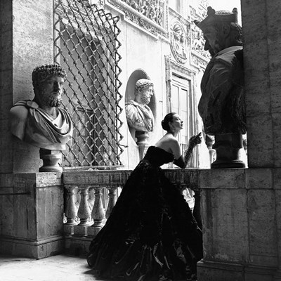 Evening Dress, Roma, 1952 art print by Genevieve Naylor for $76.25 CAD