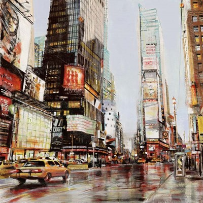 Taxi in Times Square art print by John B. Mannarini for $76.25 CAD