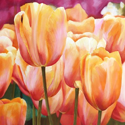 Spring Tulips I art print by Luca Villa for $76.25 CAD