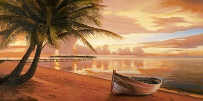 Tramonto ai Tropici art print by Adriano Galasso for $50.00 CAD