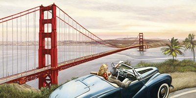 Golden Gate View art print by Pierre Benson for $50.00 CAD