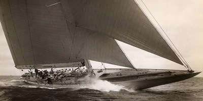 J Class Sailboat, 1934 art print by Edwin Levick for $50.00 CAD