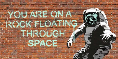 Floating Through Space art print by Masterfunk Collective for $50.00 CAD