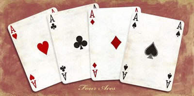 Four Aces (Red) art print by Sandro Ferrari for $50.00 CAD