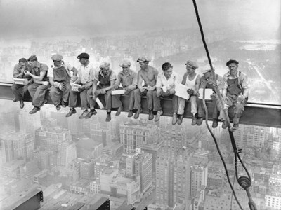 New York Construction Workers Lunching on a Crossbeam, 1932 art print by Charles C. Ebbets for $63.75 CAD
