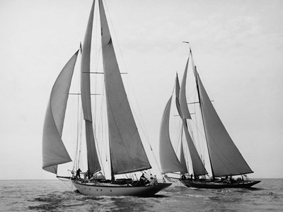 Sailboats Race during Yacht Club Cruise art print by Edwin Levick for $63.75 CAD