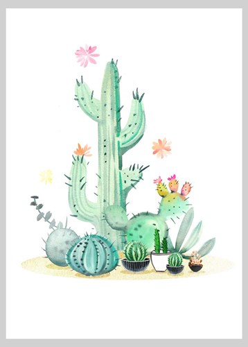 Cactus III art print by A.V. Art for $42.50 CAD