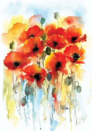 Poppies art print by A.V. Art for $42.50 CAD