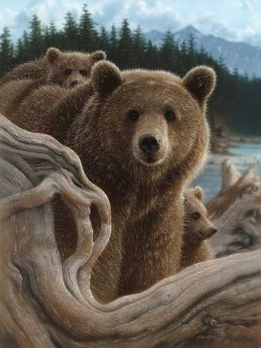 Brown Bears - Backpacking art print by Collin Bogle for $41.25 CAD