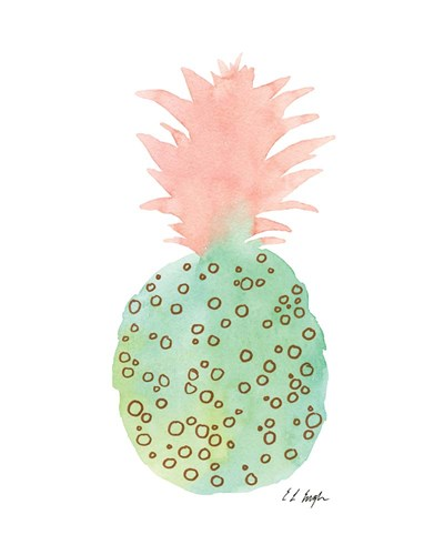 Mint Circles Pineapple art print by Elise Engh for $40.00 CAD