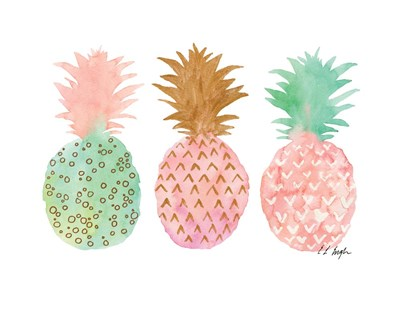 Three Pink Pineapples art print by Elise Engh for $40.00 CAD