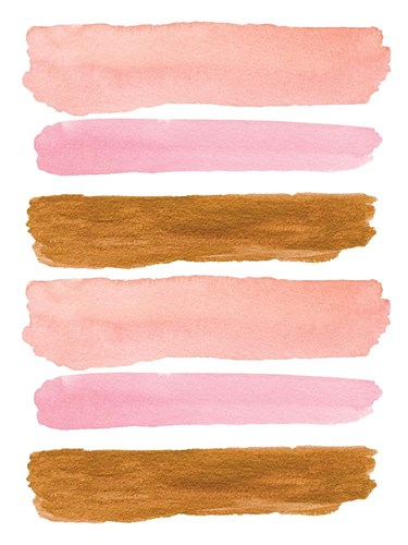 Gold and Pink Strokes art print by Elise Engh for $41.25 CAD