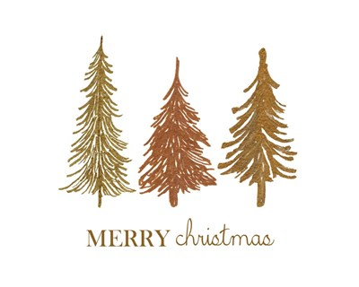 Three Trees Merry Christmas art print by Elise Engh for $40.00 CAD
