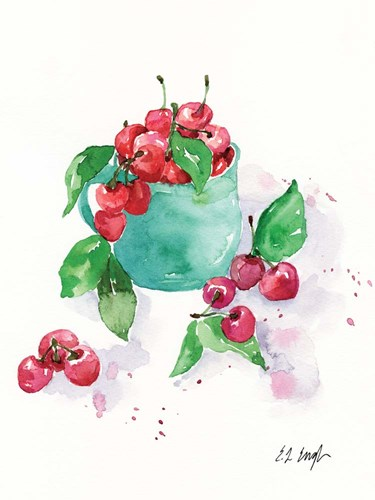 Cup of Cherries art print by Elise Engh for $41.25 CAD