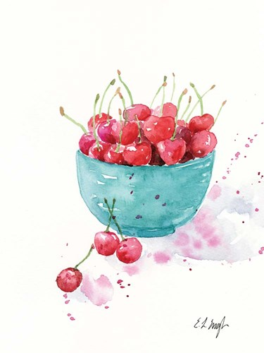 Bowl of Cherries art print by Elise Engh for $41.25 CAD