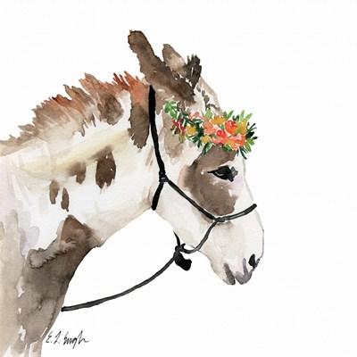Pony with Floral Crown art print by Elise Engh for $45.00 CAD